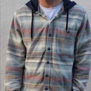 Men's Medium Billabong Striped Hoodie